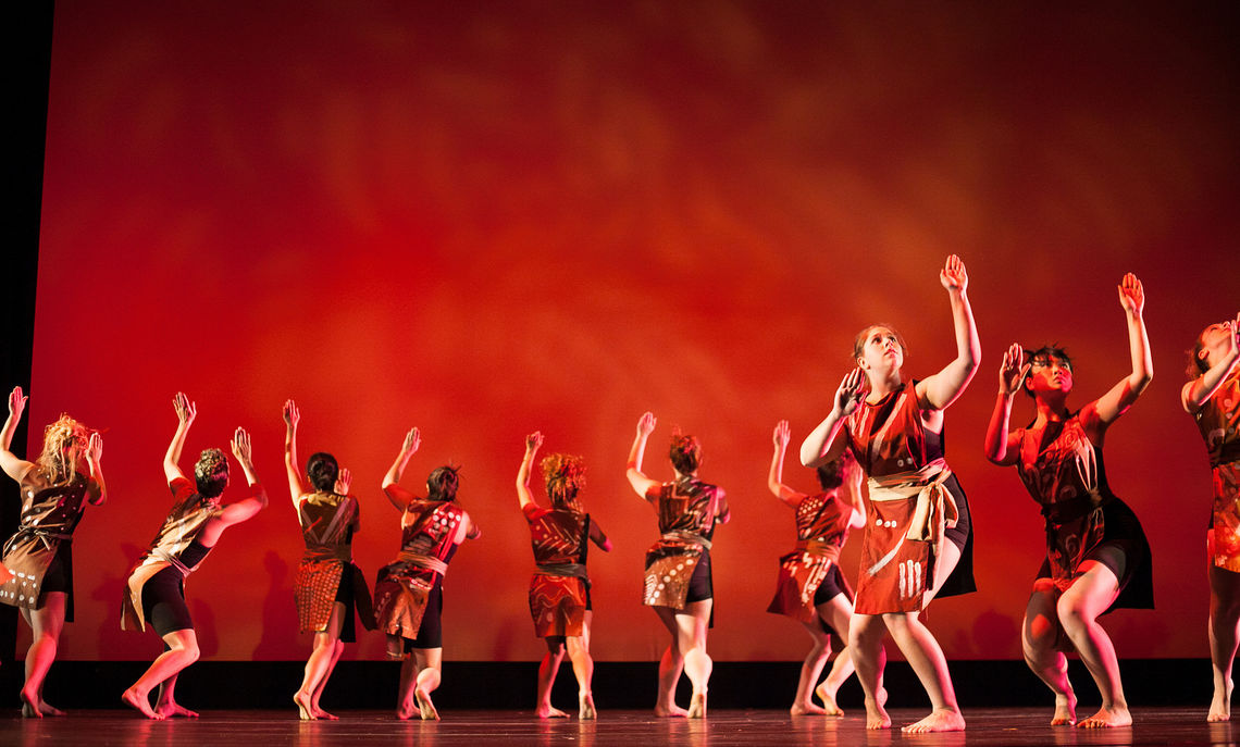 Students perform various dance pieces during rehearsal in Roschel Performing Arts Center. The Fall 2013 Dance Concert runs November 21,22, and 23.