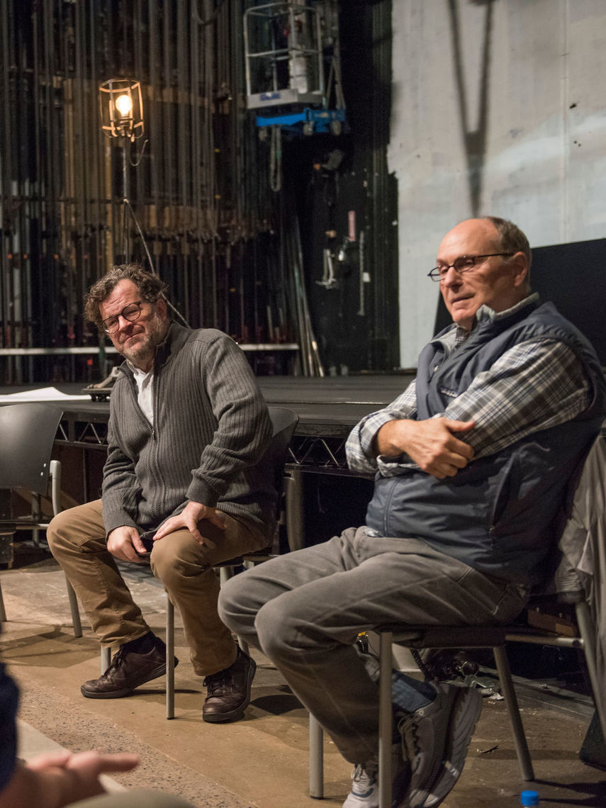F&M students meet Kenneth Lonergan and James Lapine '71.