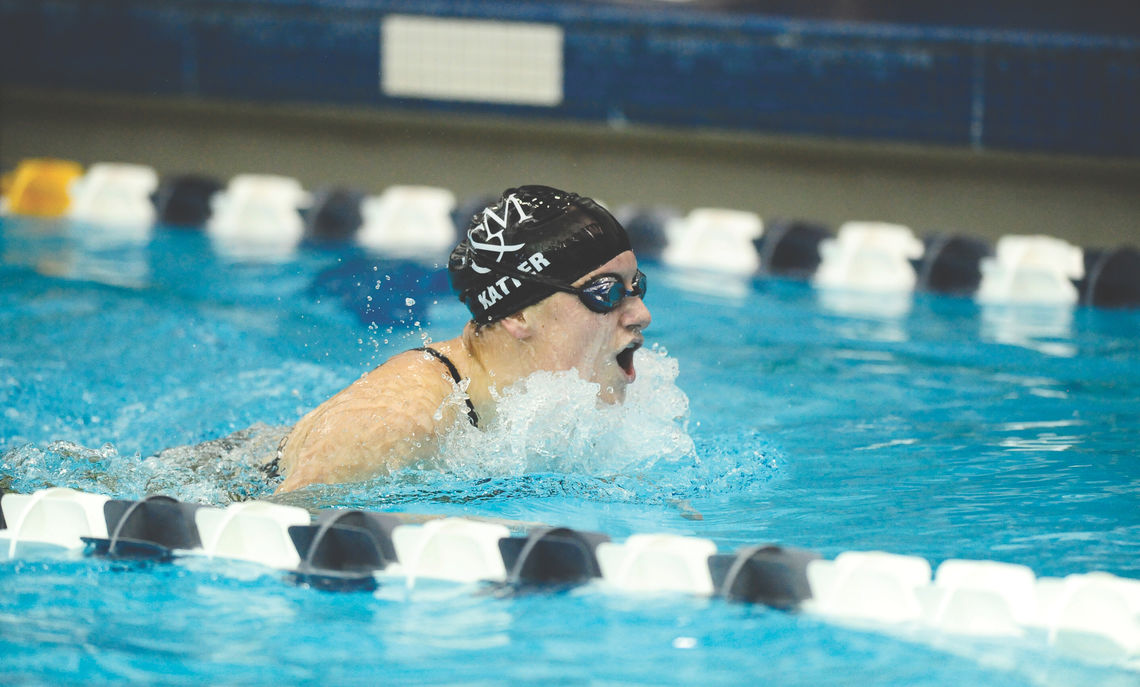 Charlotte Katter '14 competed on the College's swim team.