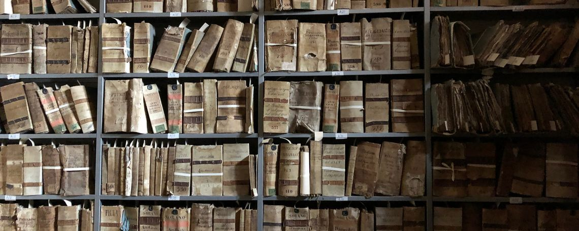 An Italian archive in Tuscany.