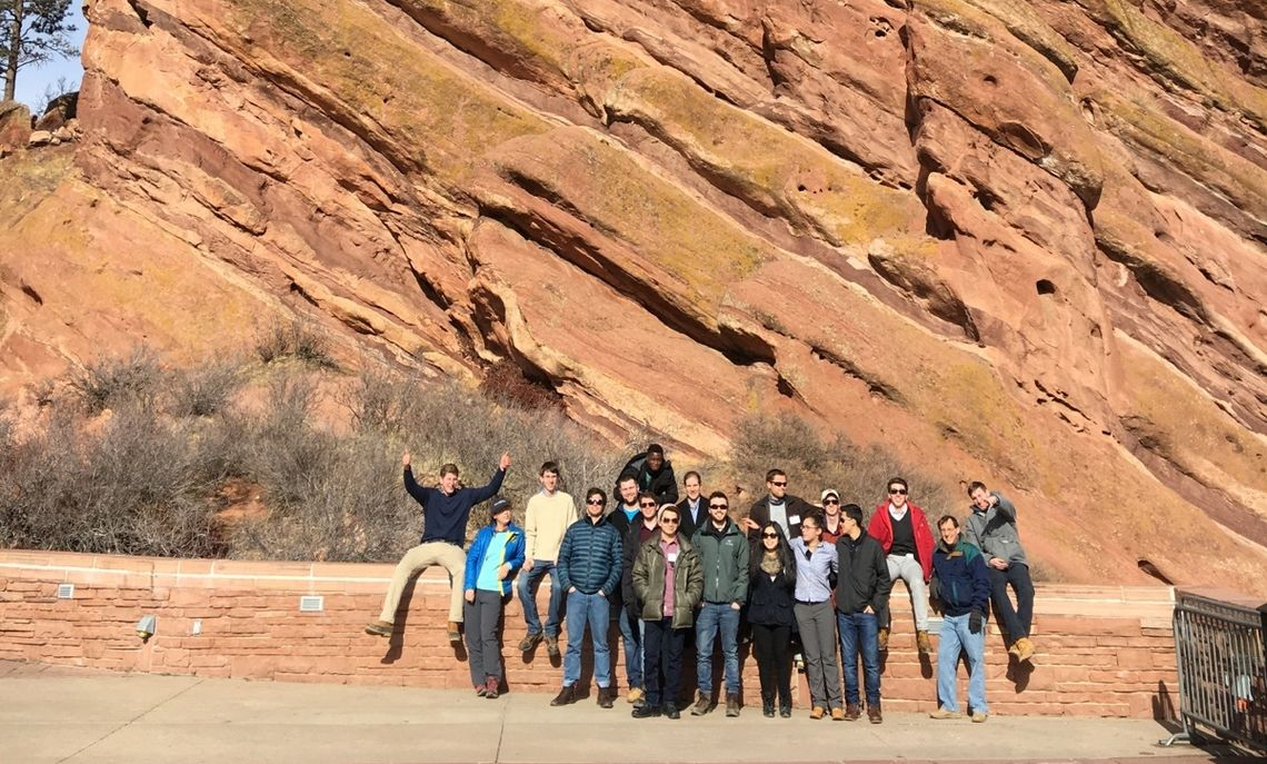 At Red Rocks Park, the students marveled at the massive red sandstone outcrops.