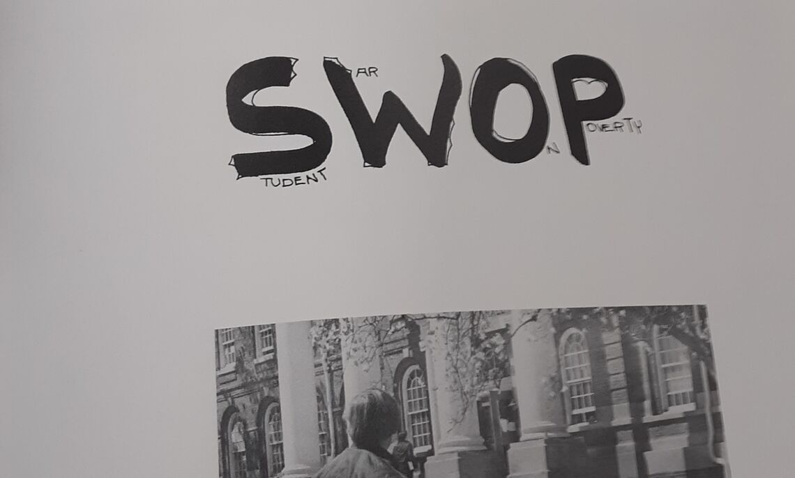The Student War On Poverty (SWOP), a group on campus Kirby-Nunes '73 and many other members of the Afro-American Society participated in.