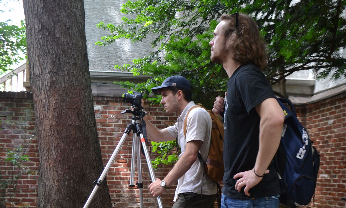 Corlett and Saunders photograph the back yards of historical houses in Old City Philadelphia.
