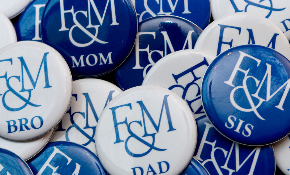 F&M Family button marquee
