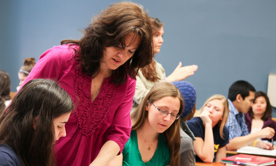 Photo taken on April 25, 2013 during Professor Clara Moore's biology class in Stager Hall.