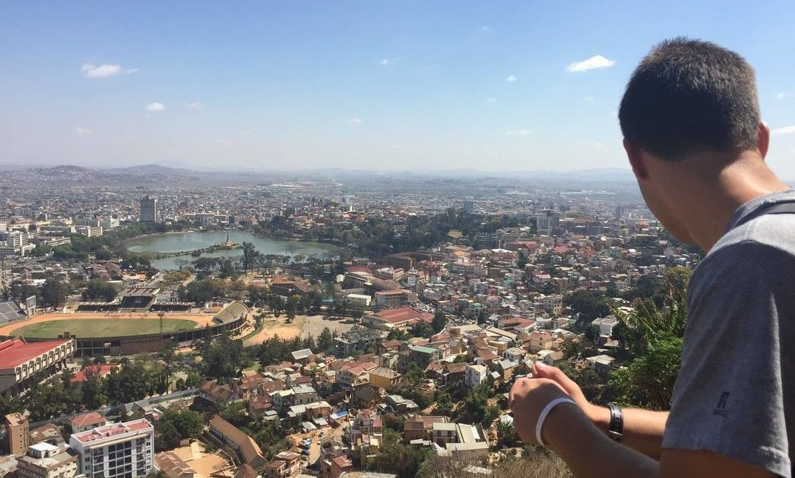 Fullam overlooks Antananarivo, the capital city of Madagascar.