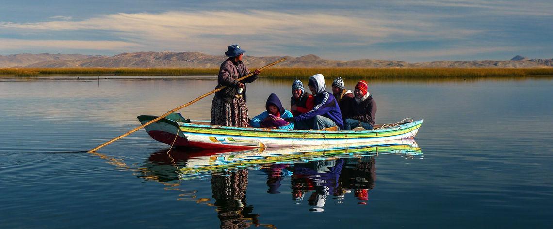 F&M students on the Desaguadero River Bolivia