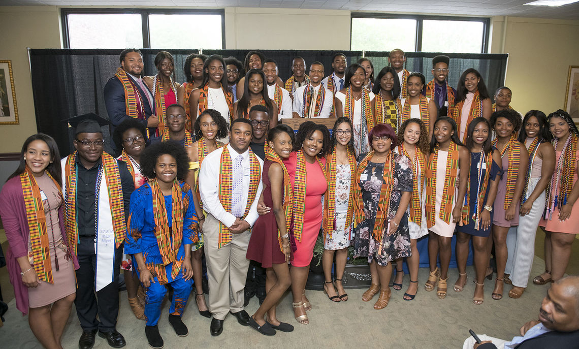 Members of the Class of 2018 are formally welcomed into F&M's African American Alumni Council during a pre-Commencement breakfast.
