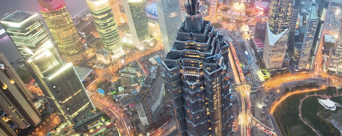 Visit landmarks such as Shanghai's Jin Mao Tower.