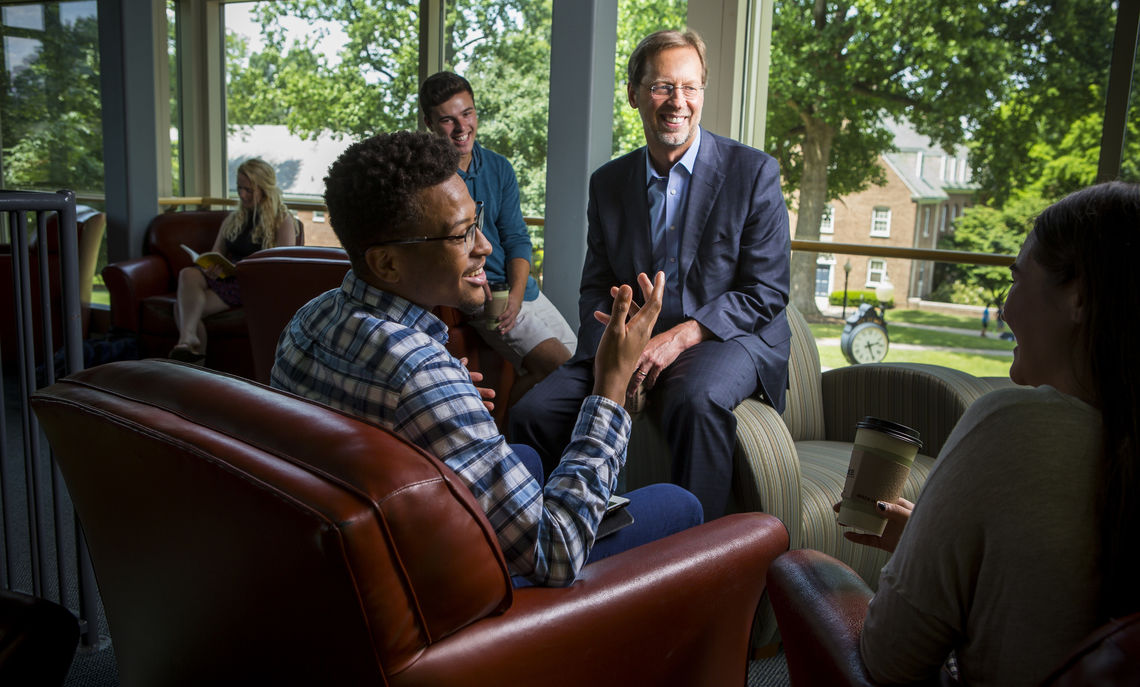 """President Daniel R. Porterfield has been named the next president and CEO of the Aspen Institute. F&M Board of Trustees Chair Sue Washburn '73 called Porterfield an """"indefatigable champion of our pivotal liberal arts mission."""""""