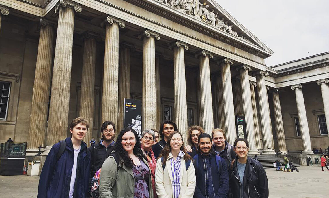 ASE students at the British Museum
