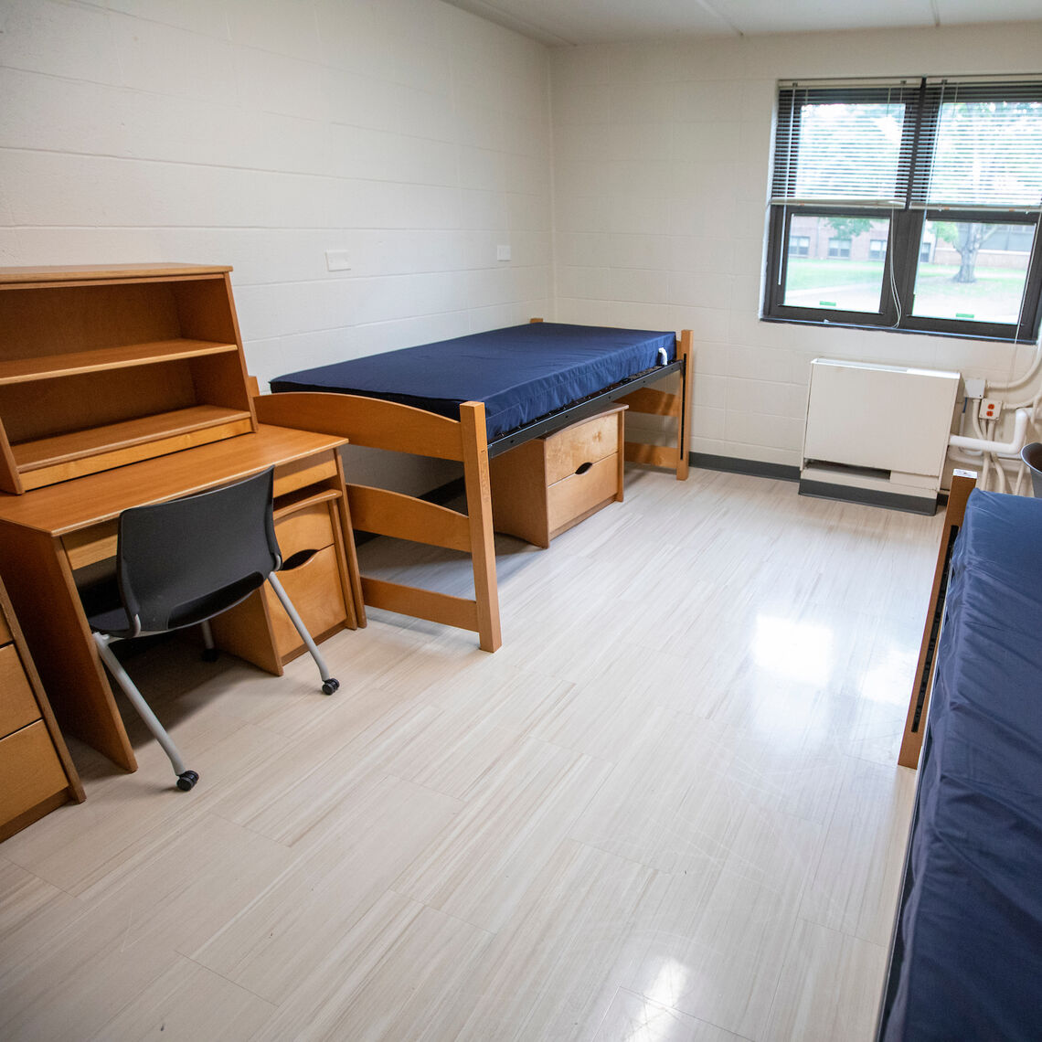 Typical room in South Benjamin Franklin Hall (Bonchek College House)