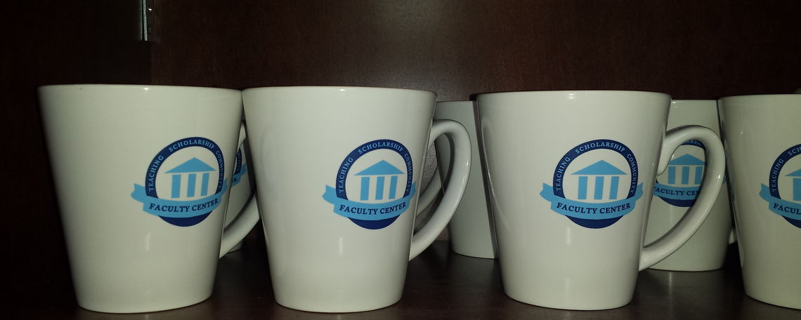 Mugs with Faculty Center Logo