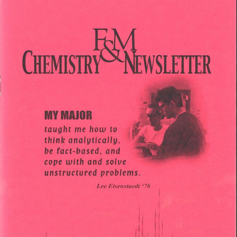 2003 Chemistry Newsletter Cover