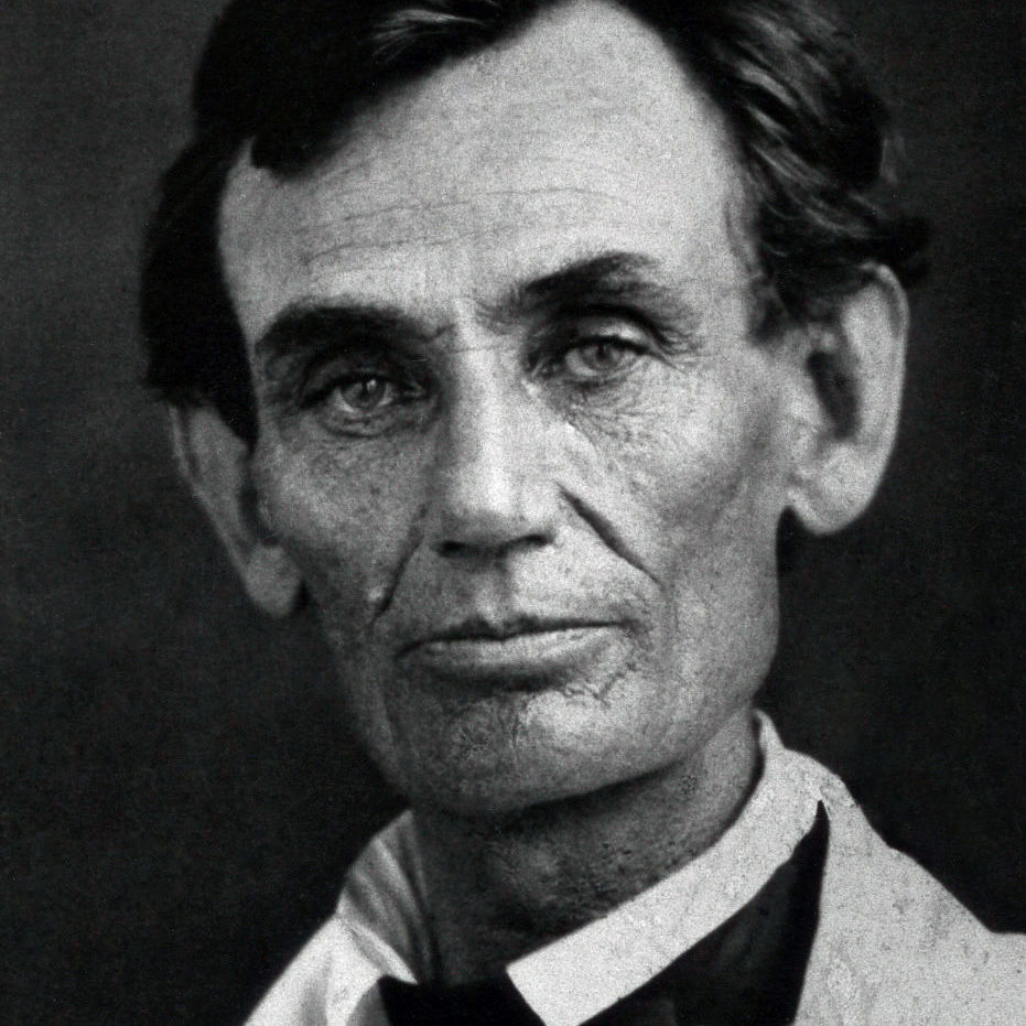 """Lincoln in 1858, one year before Darwin published """"Origin of Species"""" and two years before he became US president."""