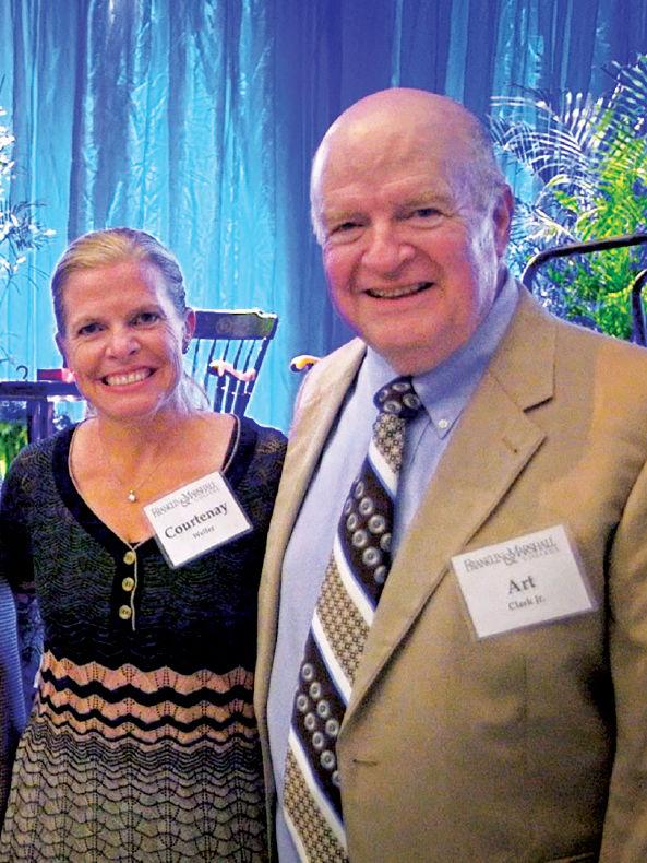 Art Clark Jr and daughter Courtenay Weller at the 2015 Tribute Dinner