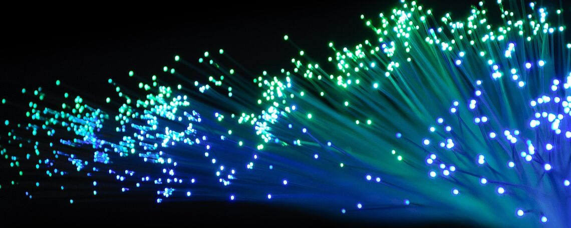 Fiber optic internet cable lighting.