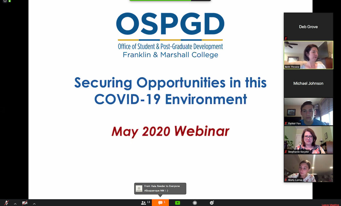 """OSPGD Webinar: """"Identifying Summer Opportunities and Experiences in this COVID-19 Environment"""""""