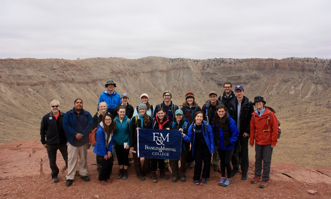 ENE students at Meteor Crater
