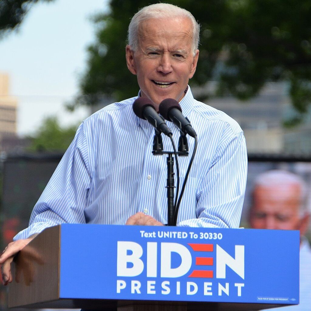 Candidate Joe Biden, at his campaign kickoff rally in Philadelphia in 2019, was sworn into office on Jan. 20, 2021, as the 46th president of the United States.