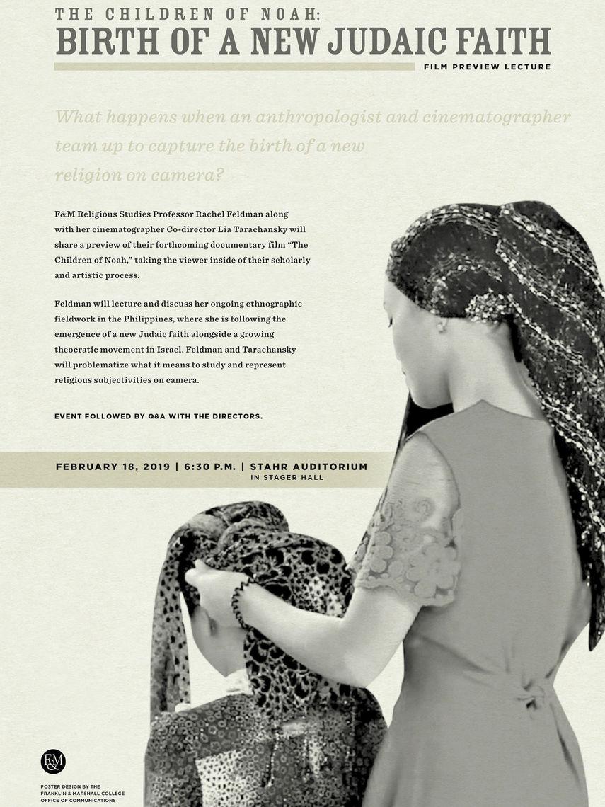 """The Children of Noah,"" the forthcoming documentary from F&M Religious Studies Professor Rachel Feldman and cinematographer co-director Lia Tarachansky."