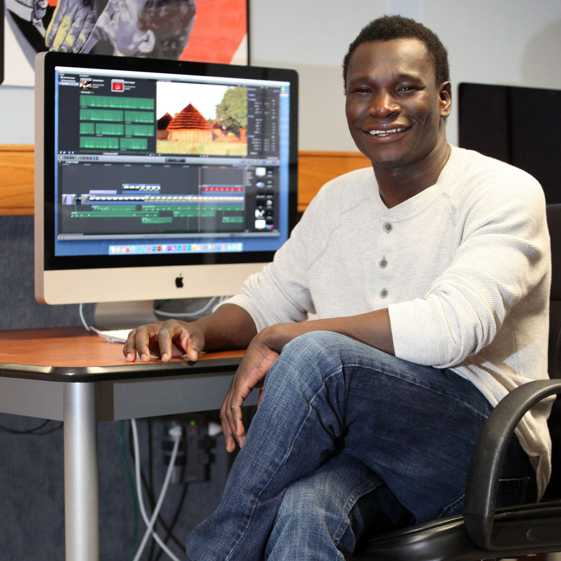 Dominic Akena is first looking to work in the film and media production field before going on to graduate school.