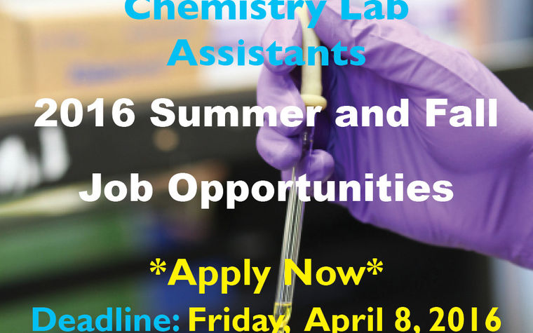 Chemistry Jobs - Lab Assistants Image