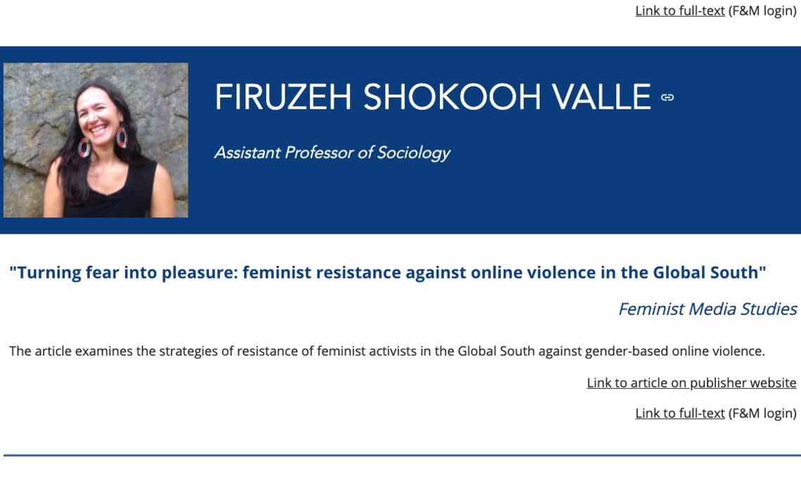 firuzeh shokooh valle feminist media studies,
