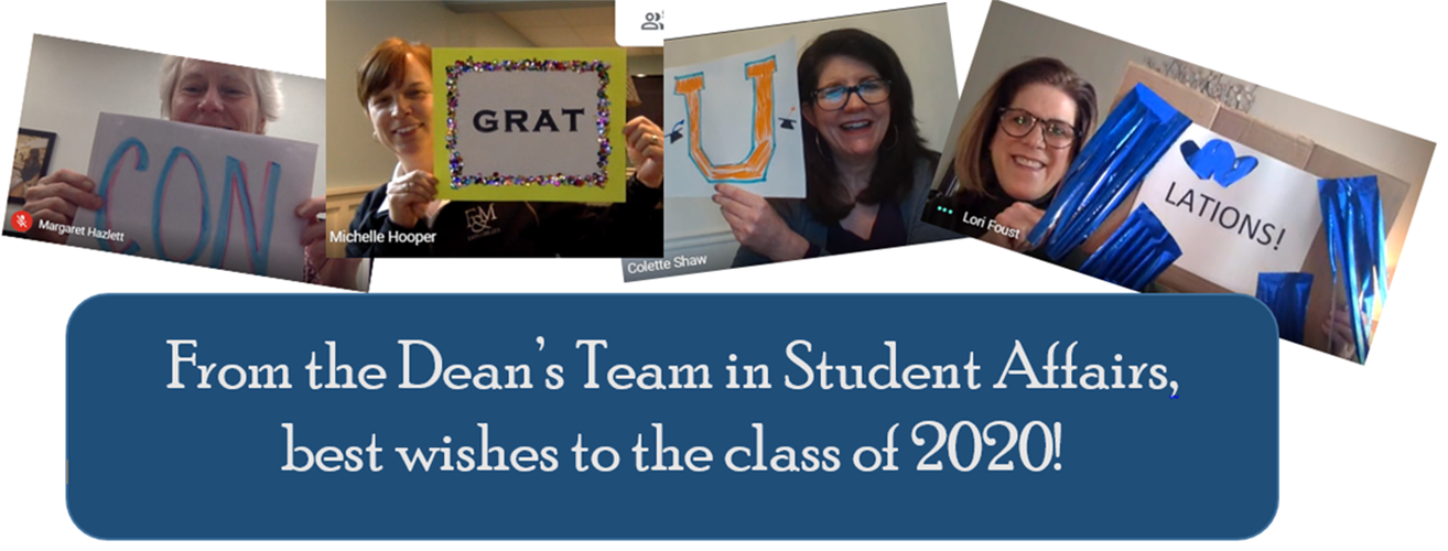 Group Congratulations from Student Affairs