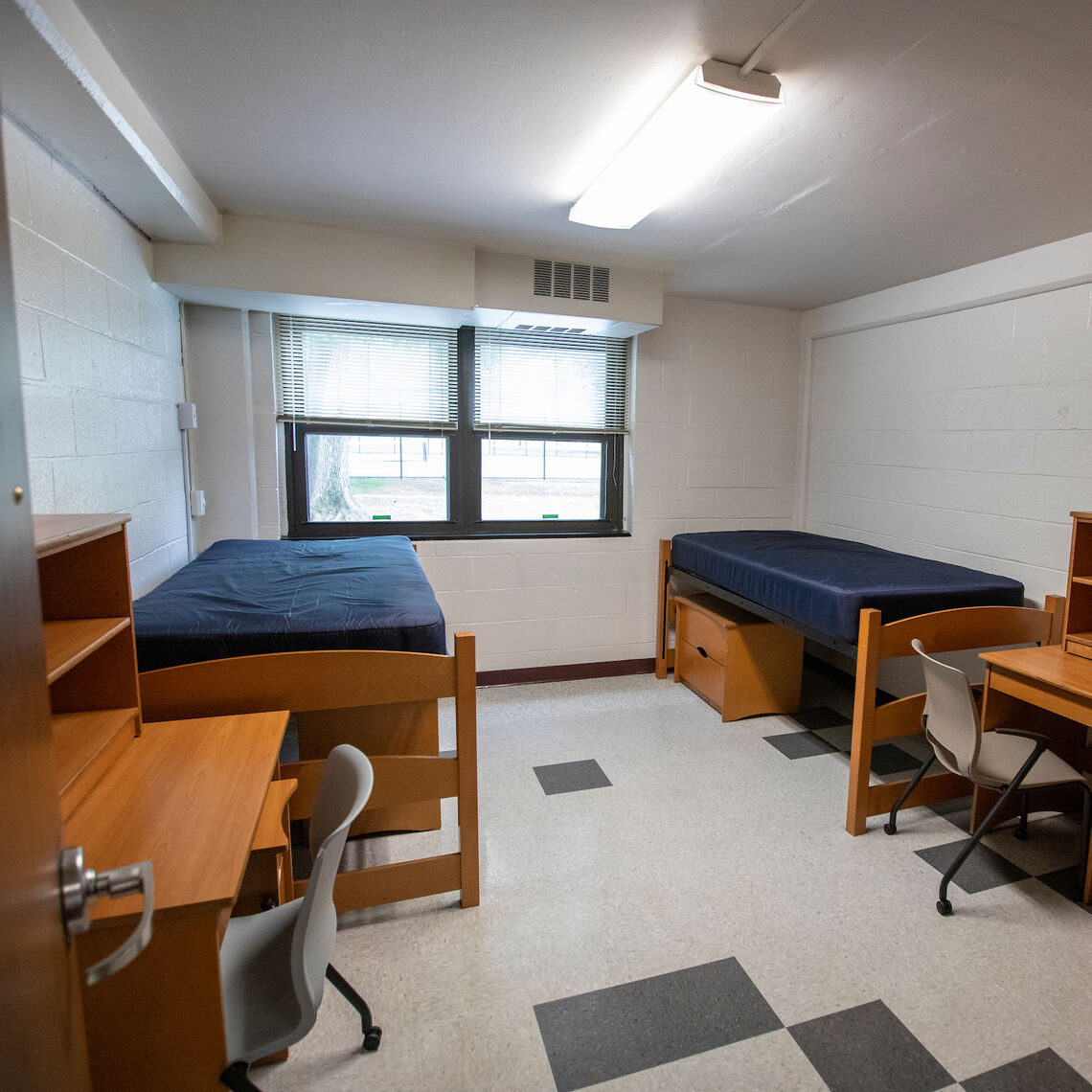 Typical room in Marshall & Buchanan Halls (Brooks College House)