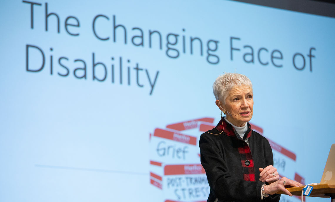 """""""The face of disability is all of us because so many of us have a hidden disability,"""" Jeanne Kincaid told the audience attending Franklin & Marshall's Feb. 21 Common Hour"""