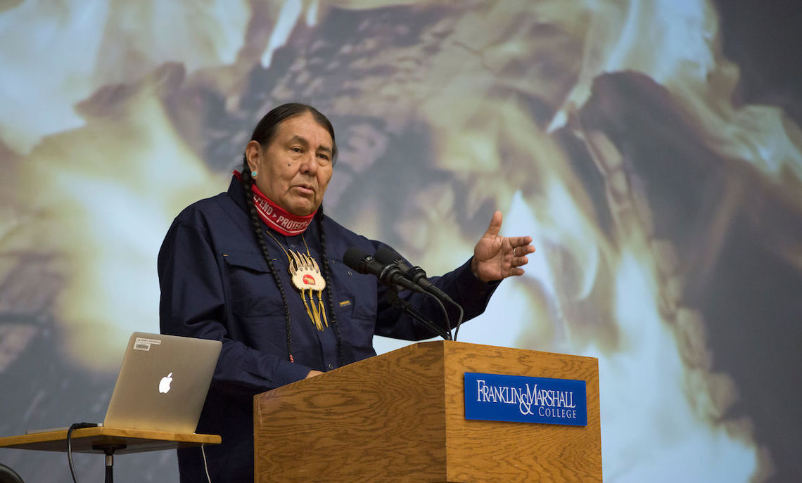 """""""Within this moment of an industrialized mindset, many people in society have been removed from that sense of nature,"""" says Tom B.K. Goldtooth, who advocates for environmental, climate and economic justice."""