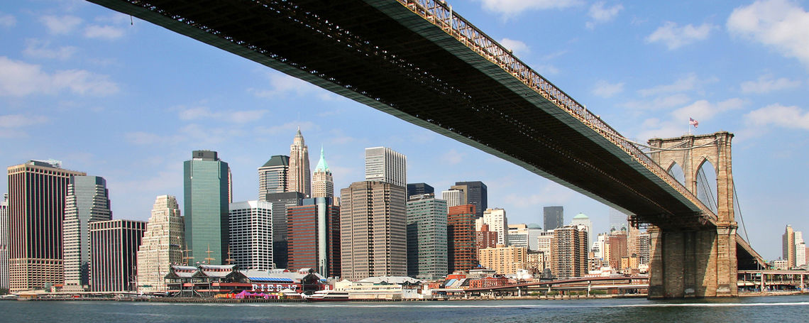 Brooklyn Bridge--NY skyline