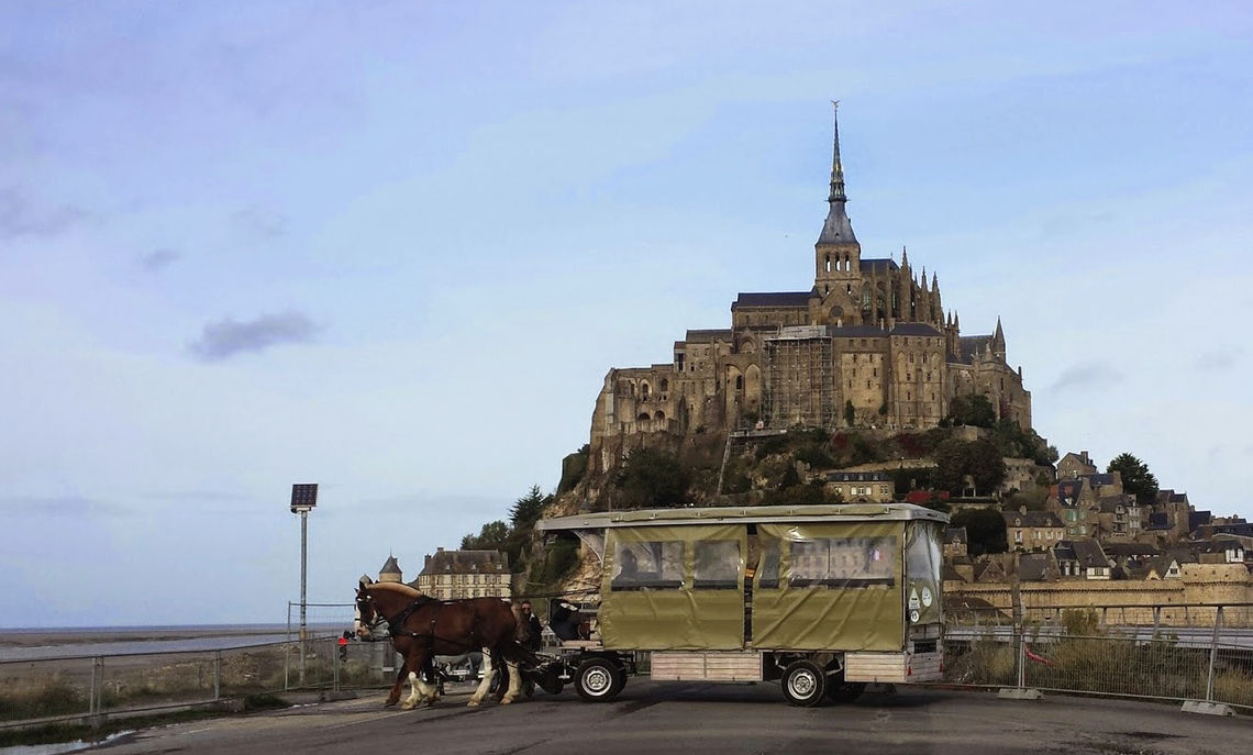 """F&M in Paris students spend three days in October along the Normandy coast. """"We began our trip at Mont Saint-Michel, a shrine to Saint Michael and a major site of medieval pilgrimage,"""" Professor of History Maria Mitchell says.  """"Like many religious institutions, the abbey was a target of the French revolutionaries, who used it to imprison dissident priests.  Today its bay is being re-engineered to restore its island origins."""""""