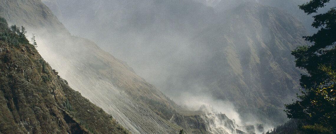 Mountains of Kalopani, Nepal.