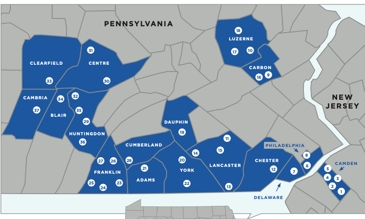 PCAC Service Map 20-21