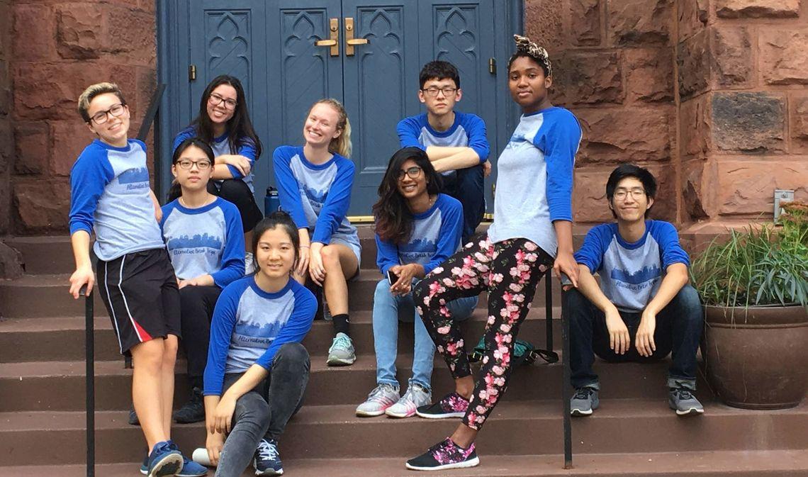 Student participants in Ware Institute Alternative Fall Break in Washington D.C.