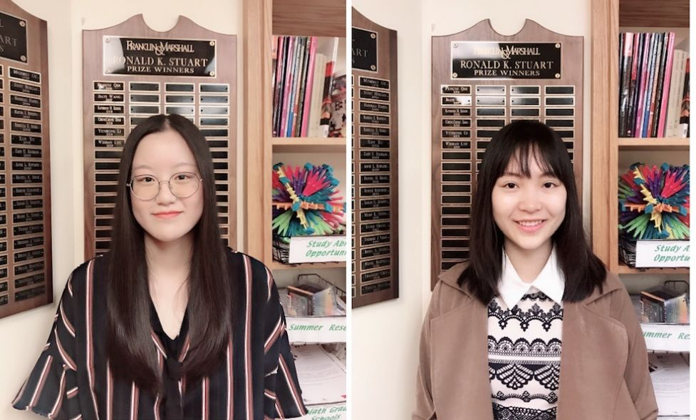 Mabel Li '19  and Weihan Lyu '19 are the  co-recipients of the Stuart Prize for 2019, the Math Department's highest academic honor.