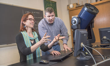 Associate Professors of Astronomy Andrea Lommen and Fronefield Crawford are co-investigators with scientists around the country in Canada, working on a newly funded $14 million project to detect gravity waves in the universe.