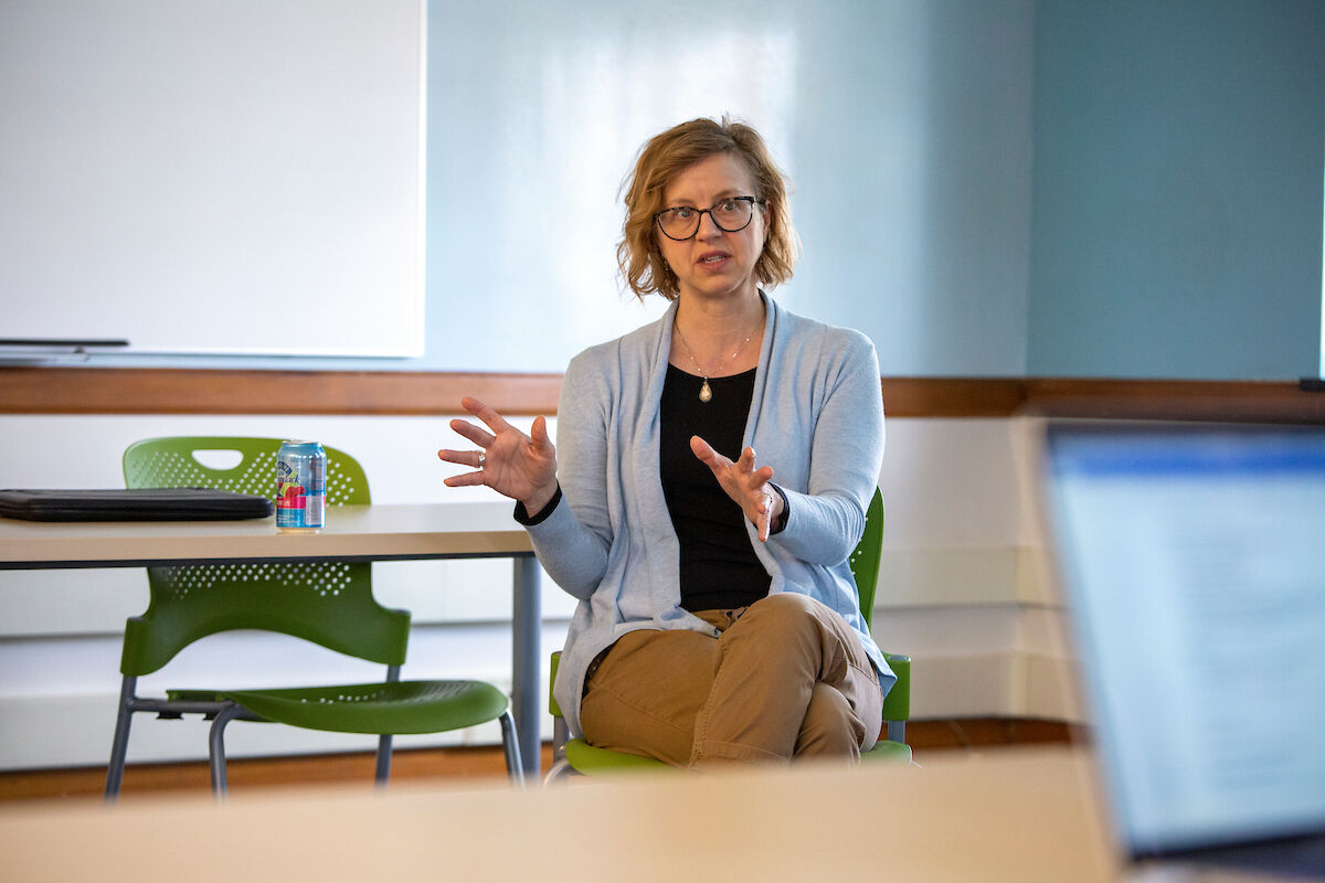 Amelia Rauser is the 2020 recipient of College's Bradley R. Dewey Award, given to a faculty member whose research efforts reflect and inspire excellence and enlighten teaching.