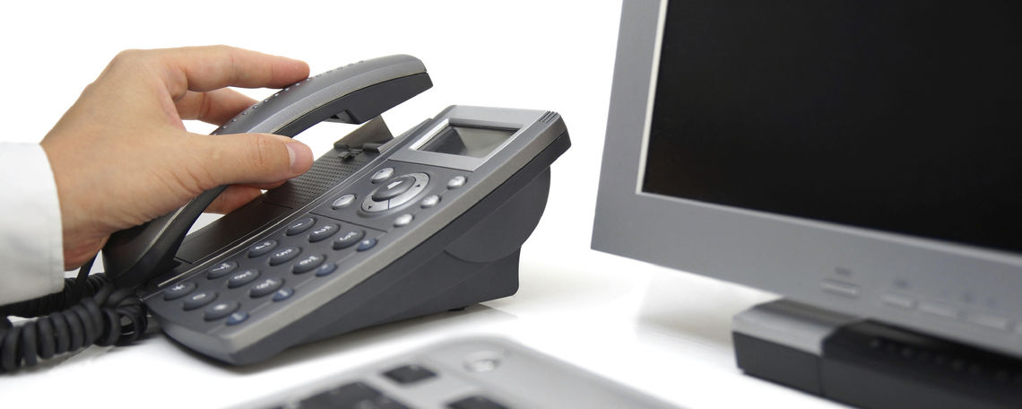 Desk phone and computer