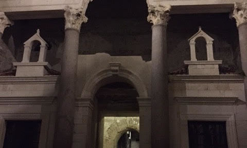 Entrance to Diocletian's private quarters, late 3rd c. CE