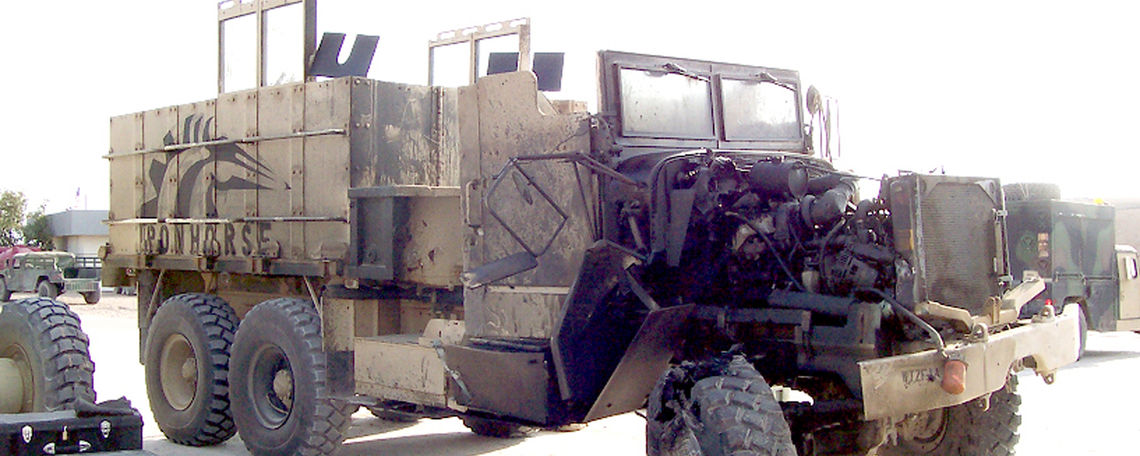 iraq gun truck hit by ied