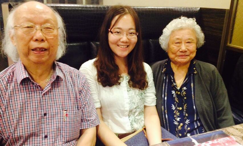 With Professor Shizhen Ying (right) and Professor Yiming Pan