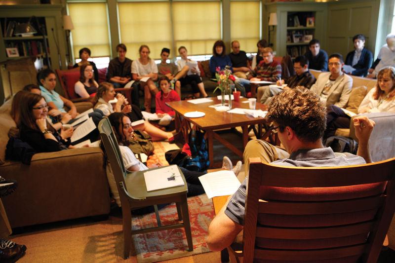 Emerging writer Jason Fagone, author of Horsemen of the Esophagus, gives a craft talk at the Philadelphia Alumni Writers House.