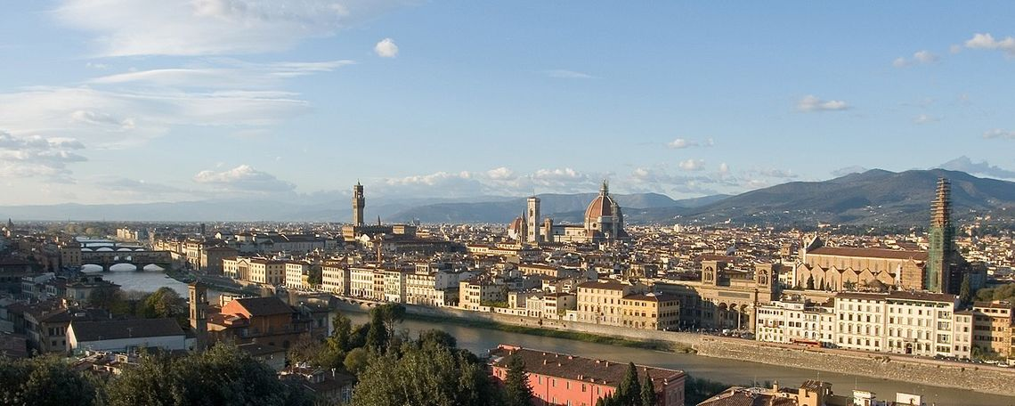 A panoramic view of Florence, Italy.