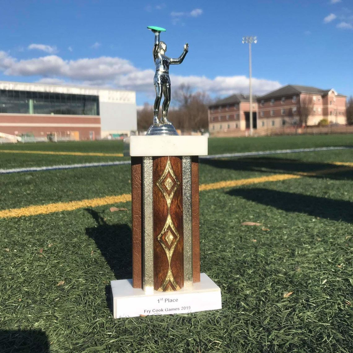 Ultimate Frisbee Trophy from the Elizabethtown tournament