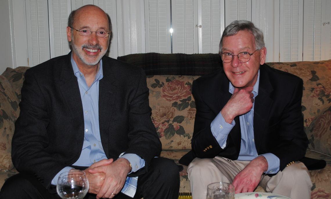 Governor Tom Wolf and Professor David Schuyler