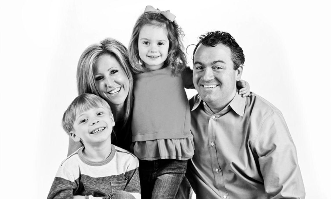 Becky Fawcett '92 and Kipp Fawcett '93 and their two children