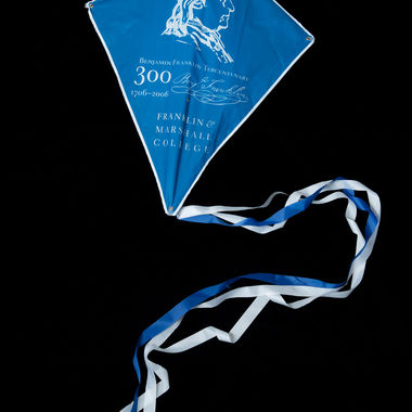 The College organized a series of events in 2006 to celebrate the 300th birthday of namesake and founding father Benjamin Franklin. This kite was among many Franklin-related artifacts that helped celebrate the occasion.